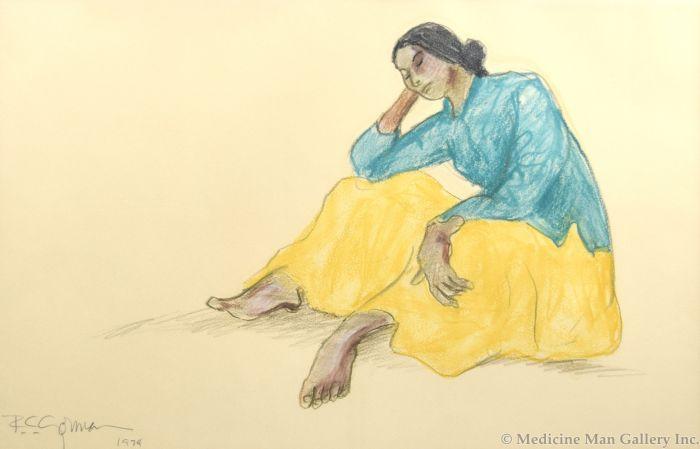 R.C. Gorman (1931-2005) - Contemplating