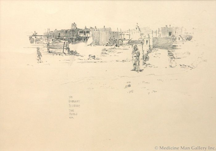 O.E. Berninghaus (1874-1952) - The Governor's Residence, Taos Pueblo (PDC91950B-0413-035)