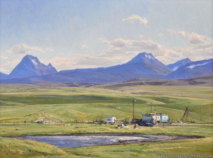 Josh Elliott - Home of the Blackfeet, After Maynard Dixon
