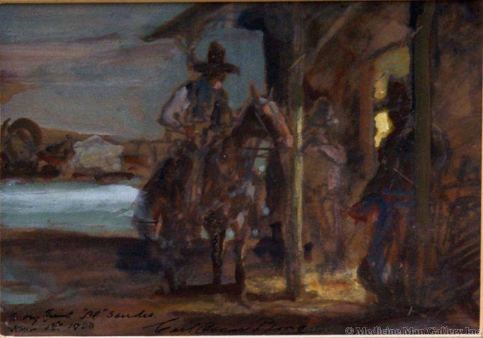 SOLD Carl Oscar Borg (1879-1947) - To My Friend Al Sander