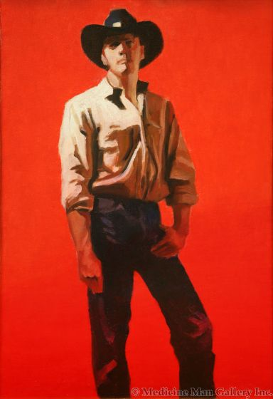 SOLD Gary Ernest Smith - Cowboy in Red