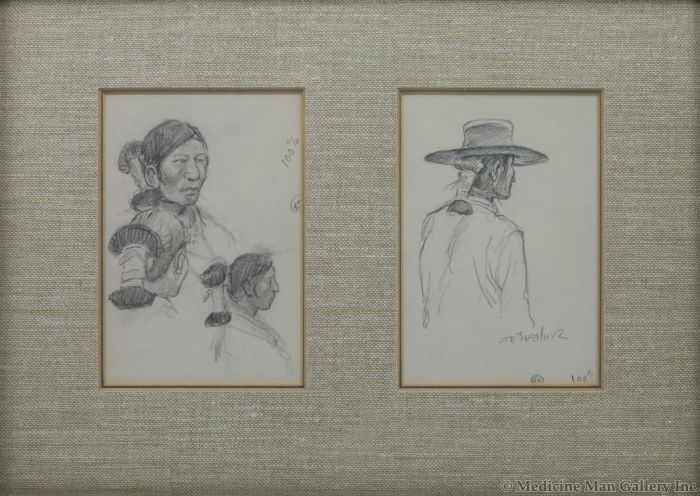 """Joe Beeler (1931-2006) - Navajo Sketches; Includes """"The Joe Beeler Sketch Book"""" by Joe Beeler (PDC1830)"""