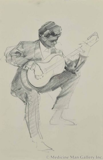 Ralph Brownell McGrew (1916-1994) - Guitar Player (PDC90536-1220-062)