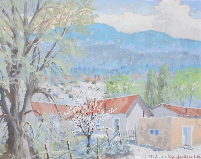 SOLD Carl von Hassler (1887-1969) - Springtime, New Mexico Valley