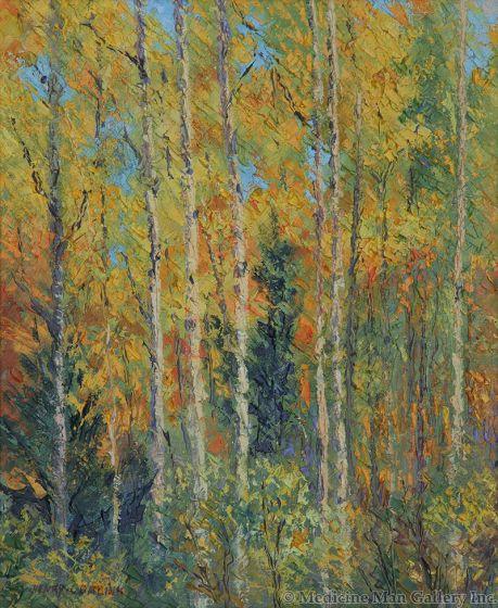 SOLD Henry Balink (1882-1963) - Autumn Aspens