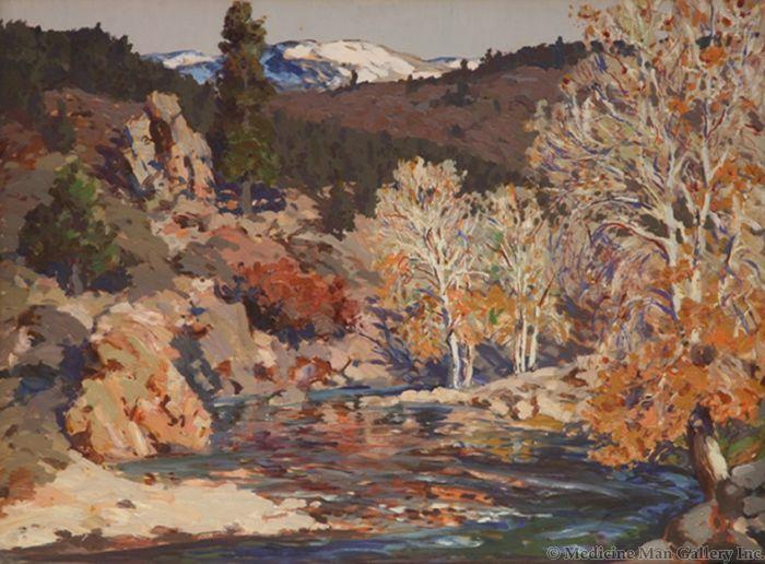 SOLD Fremont Ellis (1897-1985) - Autumn on the Pecos