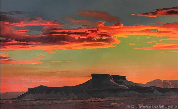 Ed Mell - Red Desert Sunset