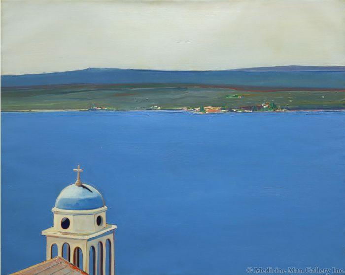 Gregory Kondos (1923-2021) - Greek Church (PDC90778A-0821-001)