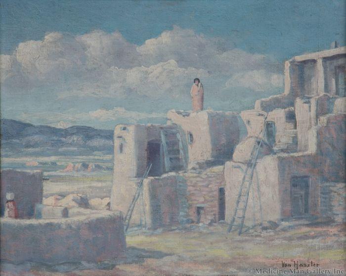 SOLD Carl von Hassler (1887-1969) - The Sentry