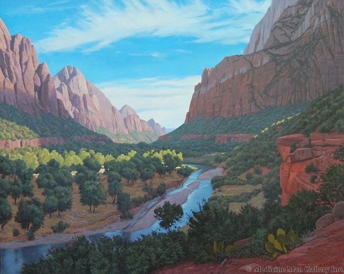 Evening in Zion Canyon