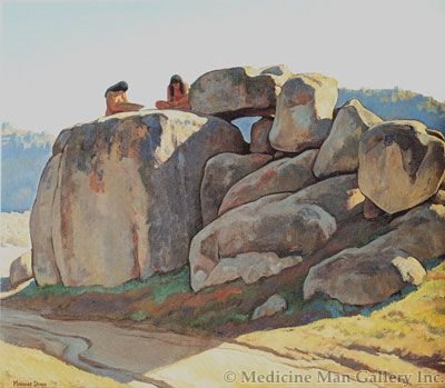 Maynard Dixon (1875-1946) - SOLD - Neolithic Afternoon