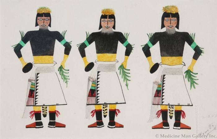 SOLD Abel Sanchez (1899-1971) - Corn Dancers