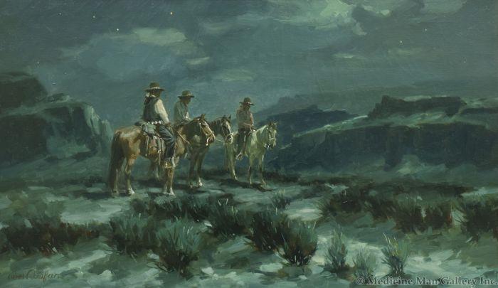 Ross Stefan (1934-1999) - Navajo at Starlight