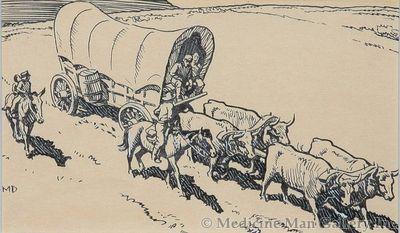 Maynard Dixon (1875-1946) - SOLD - Illustration for 'Oregon Trail' by Francis Parkman