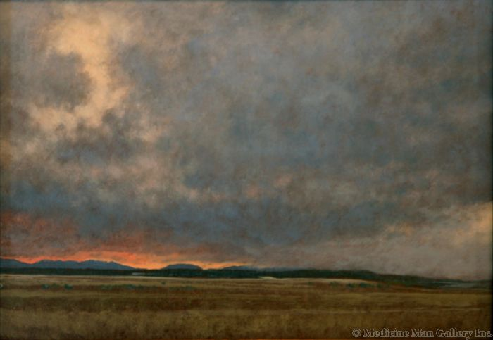 Jeff Aeling - Storm Passing at Twilight - New Mexico (PLV90107-128-103)