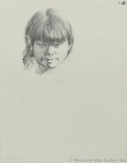 Ralph Brownell McGrew (1916-1994) - Number SK. 460, Native Child's Portrait (PDC90536-1220-010)