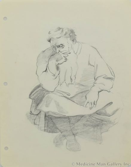 Ralph Brownell McGrew (1916-1994) - Man Sitting (PDC90536-1220-065)