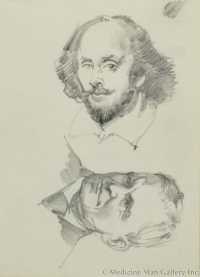 Ralph Brownell McGrew (1916-1994) - Two Portraits; Including William Shakespeare (PDC90536-1220-056)