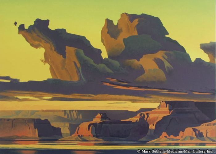 Ed Mell - Golden Light, Lake Powell (Lithograph)