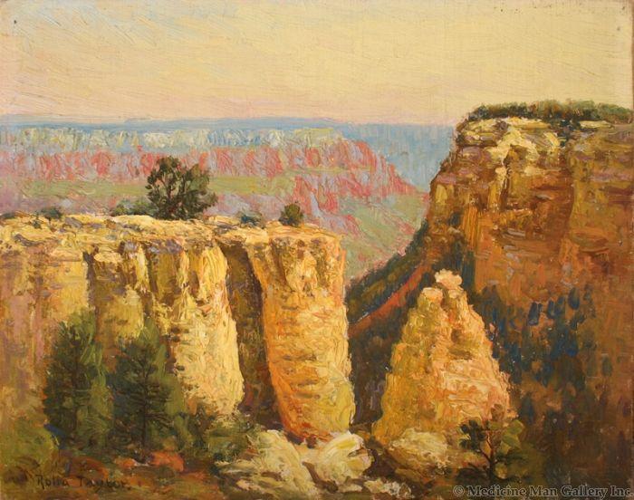 SOLD Rolla Sims Taylor (1872-1970) - Early Morning, Yavapai Point, Grand Canyon, Arizona