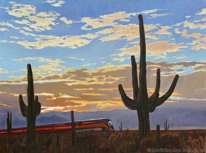 Dennis Ziemienski - Sunset Through the Saguaros