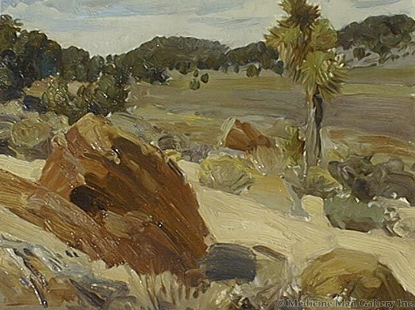 SOLD Frank Tenney Johnson (1874-1939) - Wyoming Landscape #752