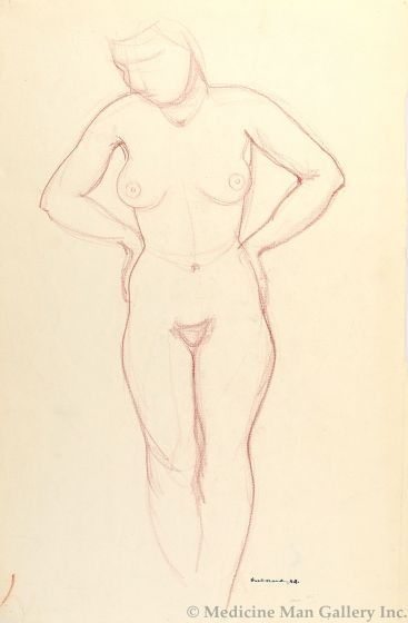 Doel Reed (1895-1985) - Standing Nude (PDC1189c)