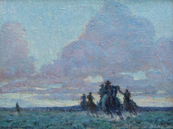 SOLD W. Herbert Dunton (1878-1936) - The End of the Day