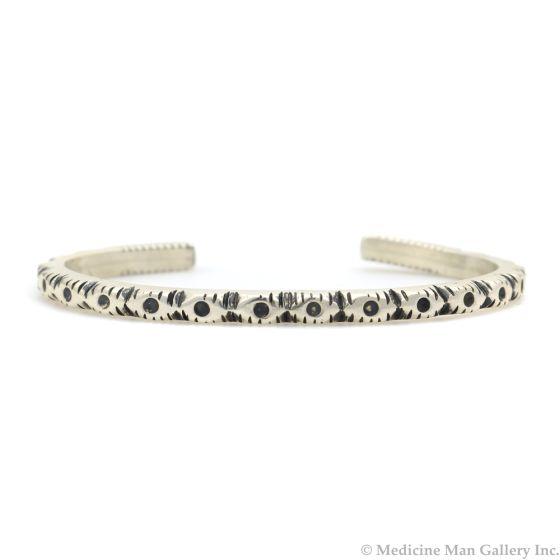 Sam Patania - Silver Bracelet with Carved Design, size 6.5 (J91699-0520-001)