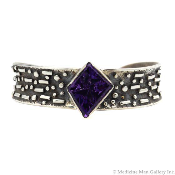 Sam Patania - Amethyst and Silver Bracelet, size 6.5 (J91699-0520-005)