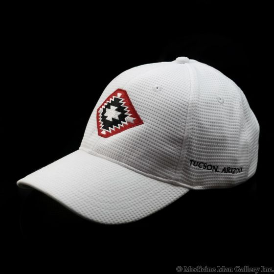 Mark Sublette Medicine Man Gallery Embroidered Hat - White with Red Logo