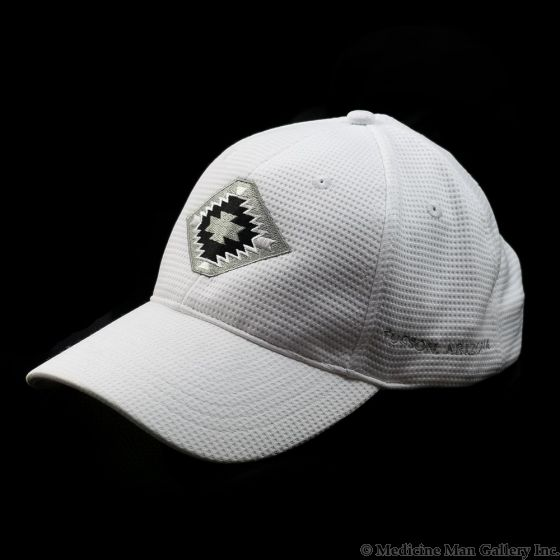 Mark Sublette Medicine Man Gallery Embroidered Hat - White with Gray Logo