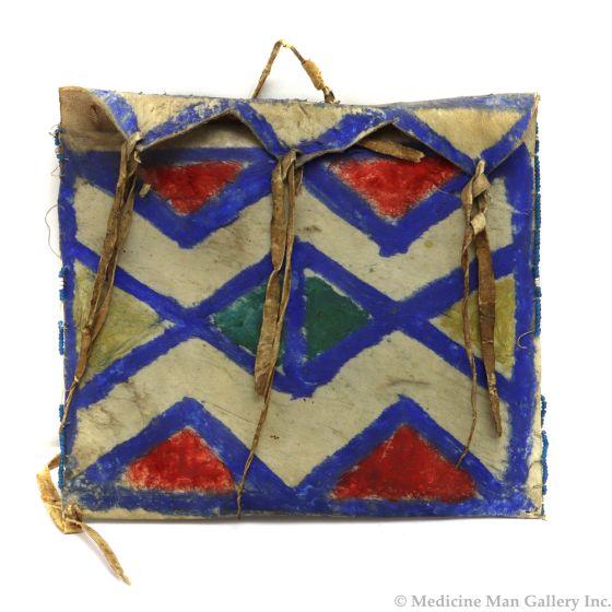 """Plains Parfleche Bag c. Turn of the 20th Century, 6.5"""" x 7.5"""" (DW91068-0213-001) 1"""