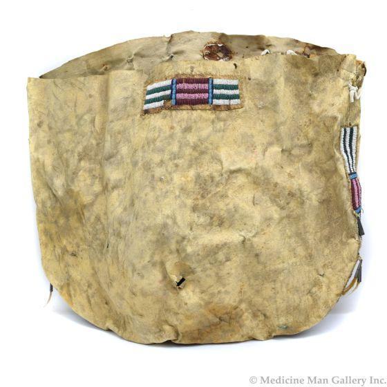 "Sioux Beaded Leather Single Saddle/Teepee Bag c. 1890s, 20"" x 22.5"" (DW91963-0121-001)"