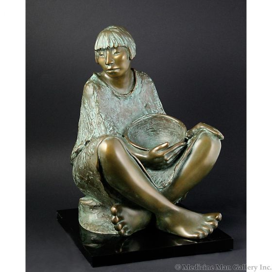 Shirley Thomson-Smith, NSS - Woman with Bowl, 1/25, LAST IN THE EDITION (SC92012-114-004)