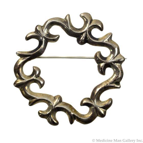 """Navajo Silver Pin c. 1950 2"""" x 2"""""""