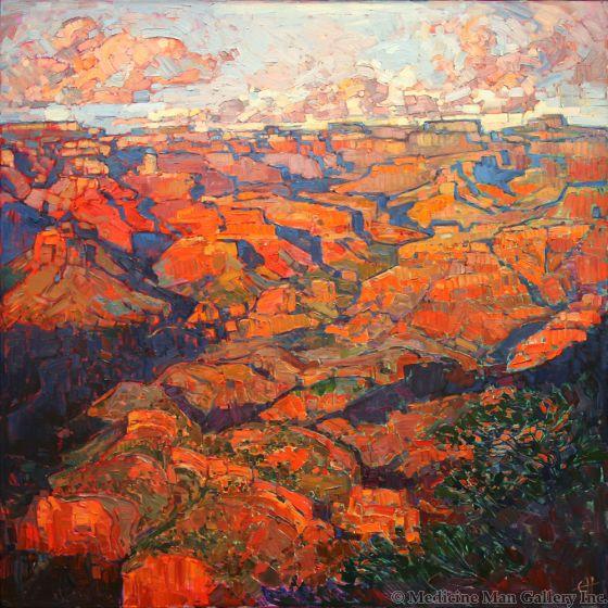 SOLD Erin Hanson - Grand Canyon in Orange