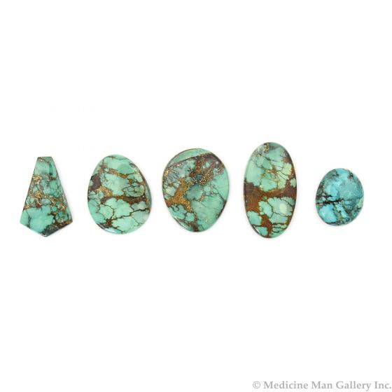 Group of 5 Turquoise Cabochons, 120.38 Total Carats