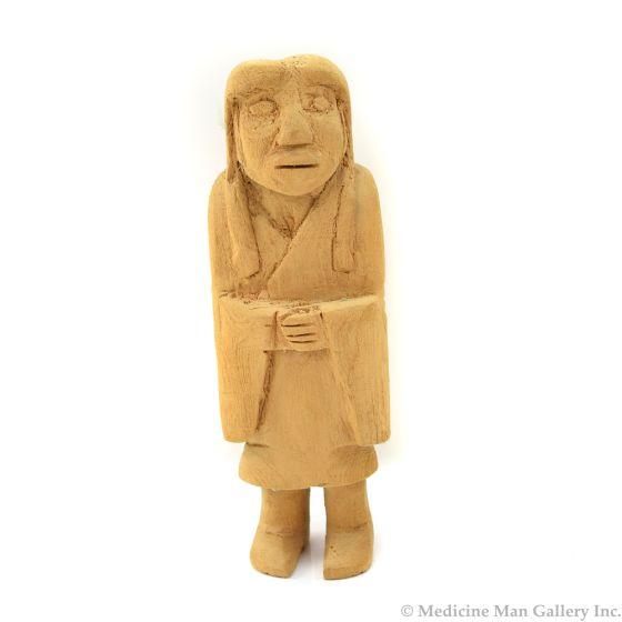 "Unpainted Hopi Kachina, 7.5"" x 2.5"" x 2.5"""