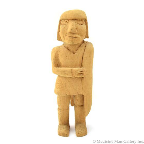 "Unpainted Hopi Kachina, 7.25"" x 2.25"" x 2.25"""