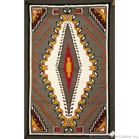 "Ada Kai - Large Navajo Klagetoh Rug with Handspun Wool c. 1980, 172"" x 111"""