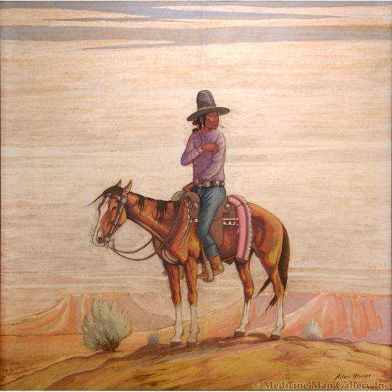 SOLD Allan Houser (1914-1994) - Indian Rider