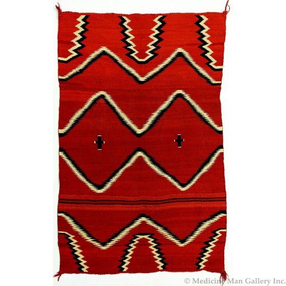 "Navajo Child's Blanket, c. 1870, 54.5"" x 37.5"""
