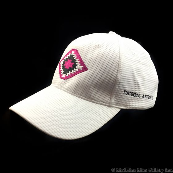 Mark Sublette Medicine Man Gallery Embroidered Hat - White with Pink Logo