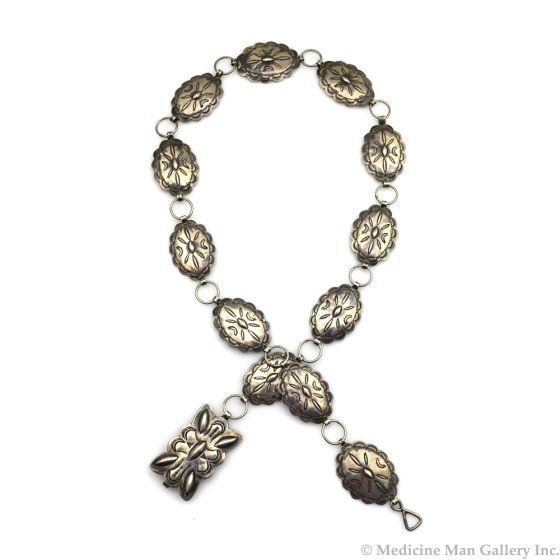 "Morris Talawytewa Robinson (1900-1987) - Hopi Silver Stamped Concho Belt c. 1940s, 33"" length"