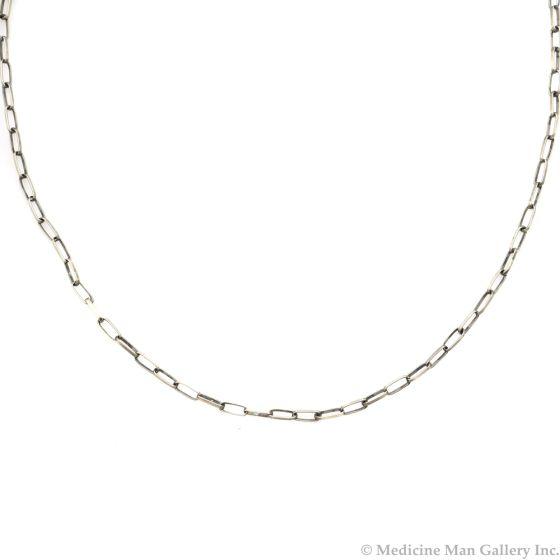 "Navajo Contemporary Silver Chain, 23"" length (J12144)"