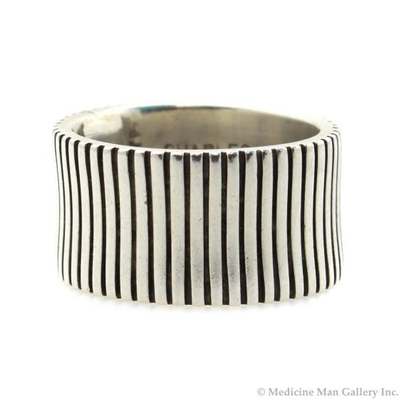 Charles Ortiz (b. 1970) - San Felipe Contemporary Sterling Silver Ring, size 5.5 (J13113-CO)