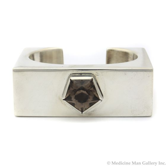 Frank Patania Jr. - Smoky Topaz and Sterling Silver Bracelet c. 1970s, size 6.25 (J90203C-1120-001)