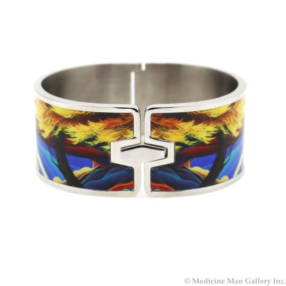 """William Haskell - """"Crucicas"""" Stainless Steel and Enamel Bracelet"""