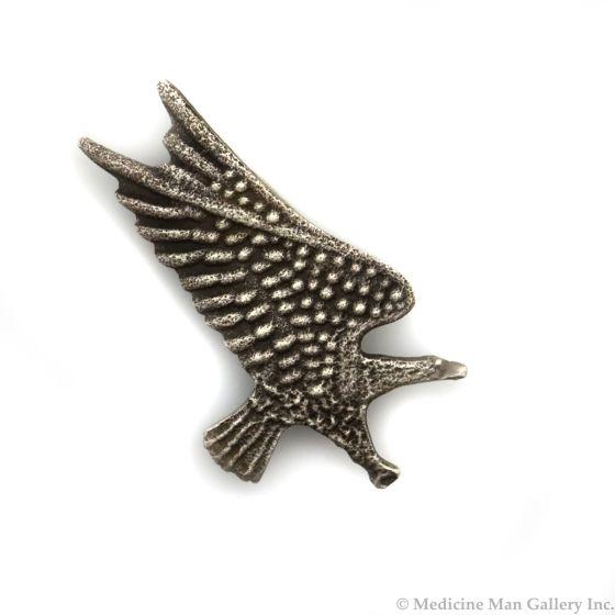 "Anthony Lovato (b. 1958) - Santo Domingo (Kewa) Silver Tufacast Eagle Pin c. 1980s, 2.25"" x 1.375"" (J91046-0221-008)"